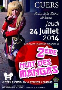 Affiche Nuit des MANGAS   24 juillet  2014   BD (3) (1)