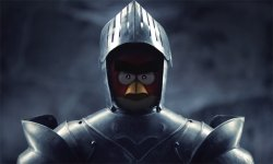 Angry Birds head Medieval