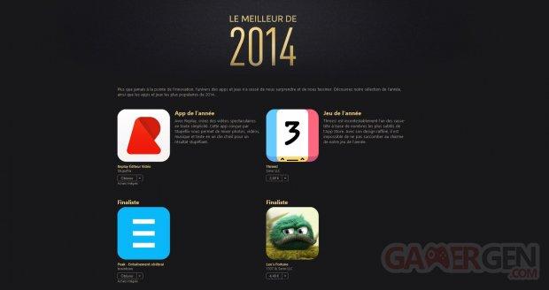 app store meilleur 2014