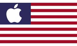 apple drapeau usa