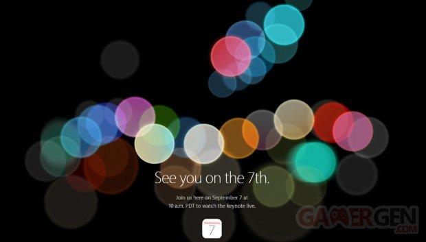 Apple Keynote 7 septembre