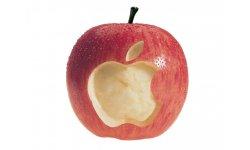 apple logo in apple