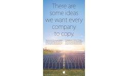 apple publicite energies renouvelables pique samsung