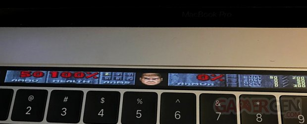 Apple Touch Bar DOOM HUD