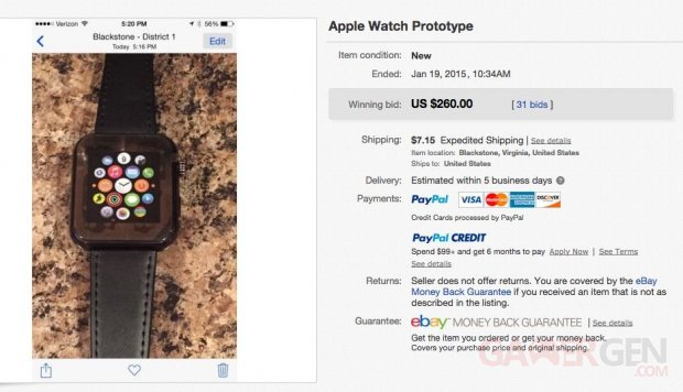 apple watch fake prototype ebay