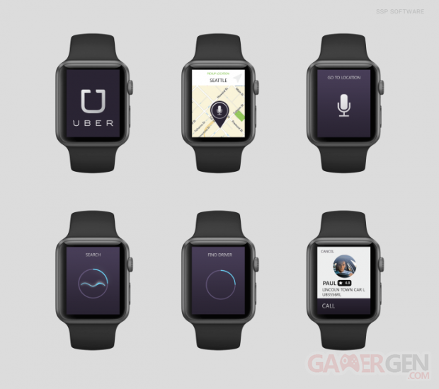 apple watch mockup uber