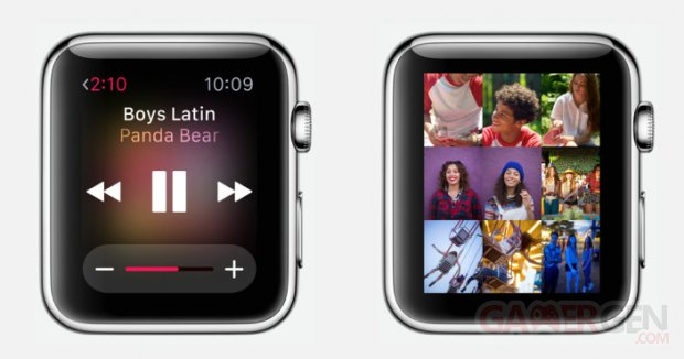 apple watch musique photos