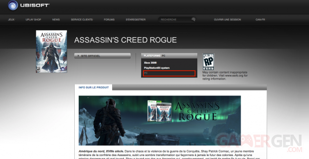 Assassin s creed rogue PC