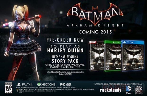 Batman Arkham Knight bonus Harley Quinn