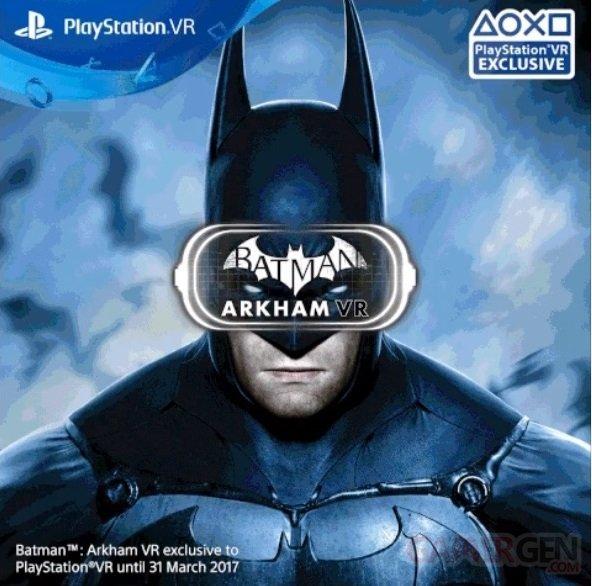 Batman : Arkham VR, exclusivité temporaire et précisions sur la durée de vie
