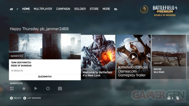 Battlefield 4 new UI menu