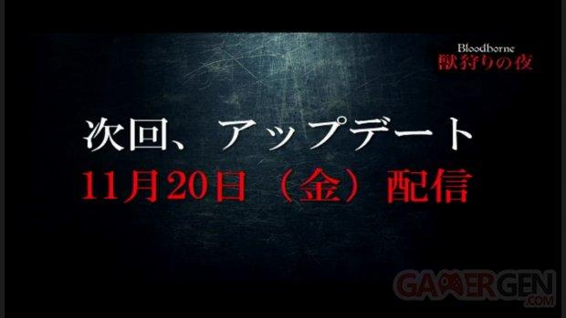 Bloodborne date de sortie mise a? jour