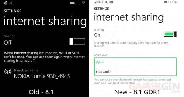 Bluetooth Share screen wp