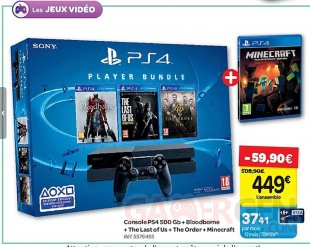 Bon PLAN PS4 carrefour
