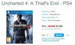 BON PLAN - Uncharted 4: A Thief's End à 52,50 € direct (sans artifices, ni remises ultérieures)