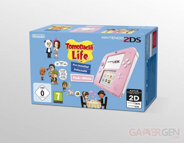 Bundle 2DS rose Tomodachi Life