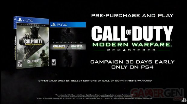 Call of Duty Modern Warfare Remastered early access