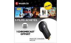 chromecast offert avec achat cinq films HD wuaki.tv