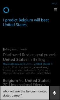 Cortana Belgique USA