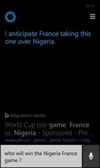 Cortana France Nigeria