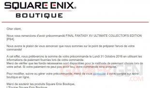 courriel square enix FF XV
