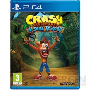 crash bandicoot n sane trilogy jaquette boxart