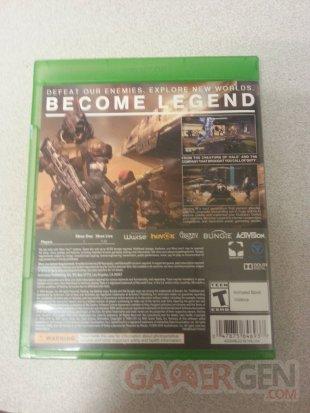 Destiny arrière jaquette Xbox One