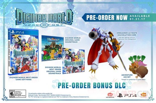 Digimon World Next Order bonus precommande 24 11 2016