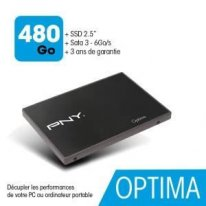 Disque dur interne SSD 480Go PNY OPTIMA 2.5 Serial ATA 600