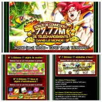 Dragon Ball Z Dokkan Battle bonus connexion 77,77 telechargements images (1)