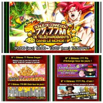 Dragon Ball Z Dokkan Battle bonus connexion 77,77 telechargements images (2)