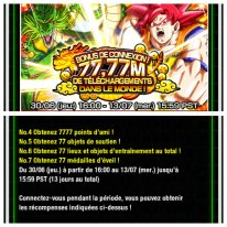 Dragon Ball Z Dokkan Battle bonus connexion 77,77 telechargements images (5)
