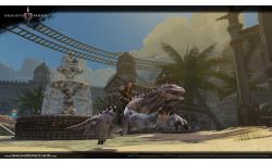 Dragon\'s Prophet riding through desert city