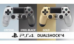 DualShock 4 PS4 Crystal Steel Black Gold Silver