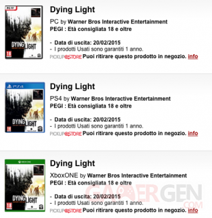 Dying Light GameStop Italy