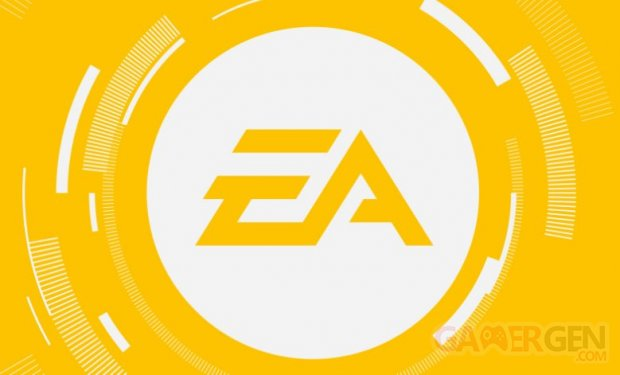 Electronic Arts logo EA head banner