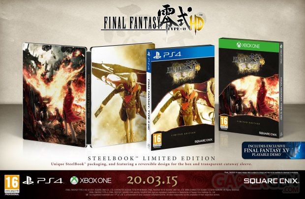 Final Fantasy Type 0 HD steelbook edition limitee 12.01.2015
