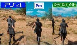 Final Fantasy XV images comparaison