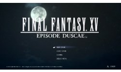 Final Fantasy XV menu head Episode Duscae
