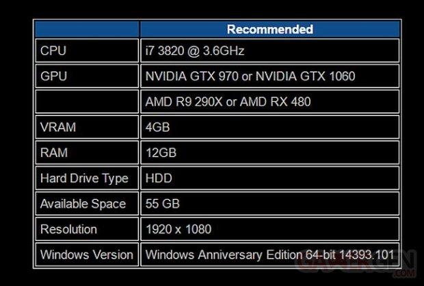 Forza Horizon 3 configuration recommande?e