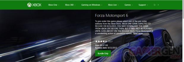 Forza MotorSport 6 Xbox Store
