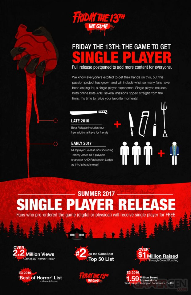 friday the 13th game date de sortie mode solo