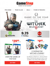 GameStop The Witcher 3