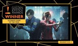Golden Joystick Awards 2019 : Resident Evil 2 Remake élu Jeu Ultime de l'Année, qui sont les autres vainqueurs