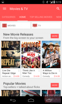 google play store 5 0 screenshot films tv