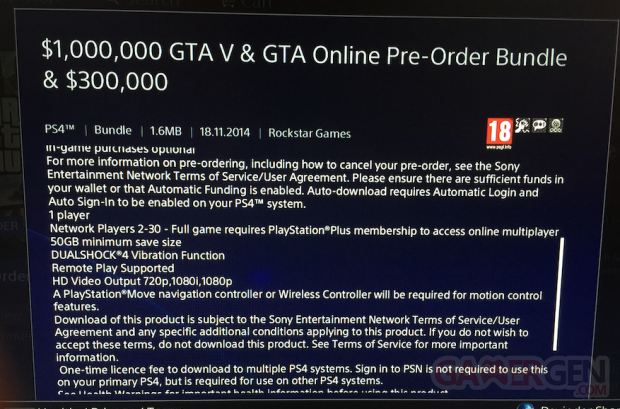 GTA V playstation 4 PSN