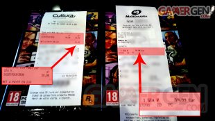 GTA V tickets cultura micromania
