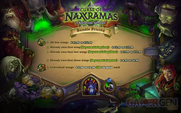 Hearthstone La male?diction de Naxxaramas prix