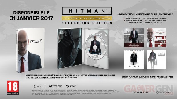 HITMAN SteelBookEdition French PEGI