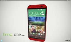 HTC One M8 Red Rouge 3D trostilé